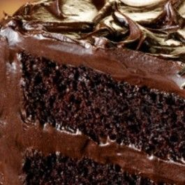 This is an incredibly dense rich and moist chocolate cake One