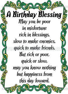 Irish Birthday Blessing Irish Birthday Wishes Irish Birthday