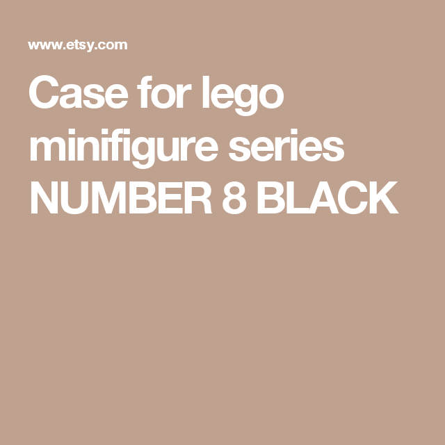 Case for lego minifigure series NUMBER 8 BLACK | Best Lego ...