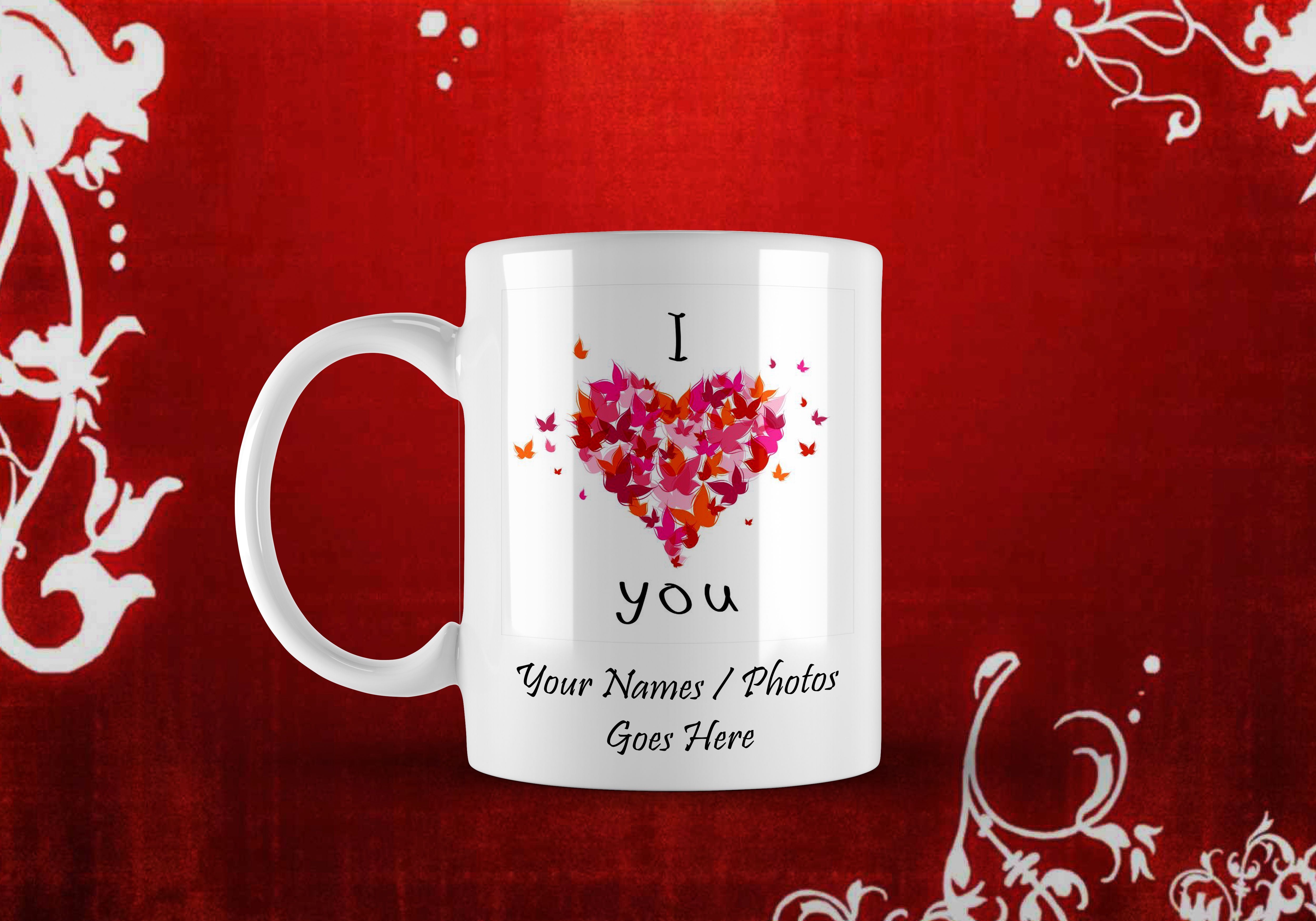 Personalized Printed White Mugs With Your Photos And Text Rs 500
