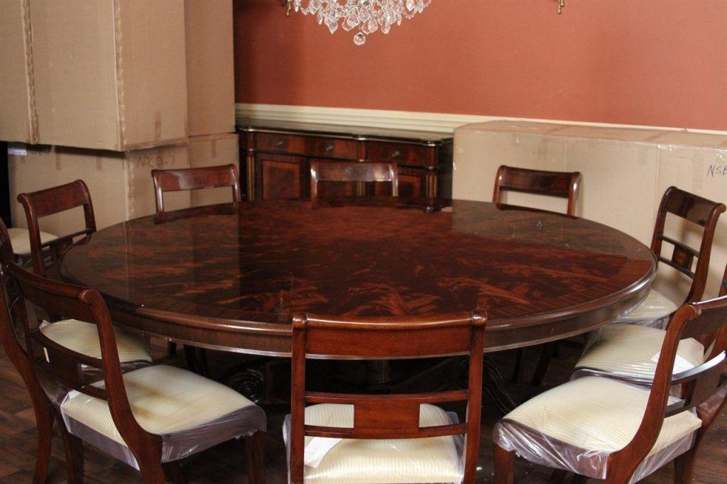 Large Round Dining Table Extra Large 84 Round Mahogany Dining