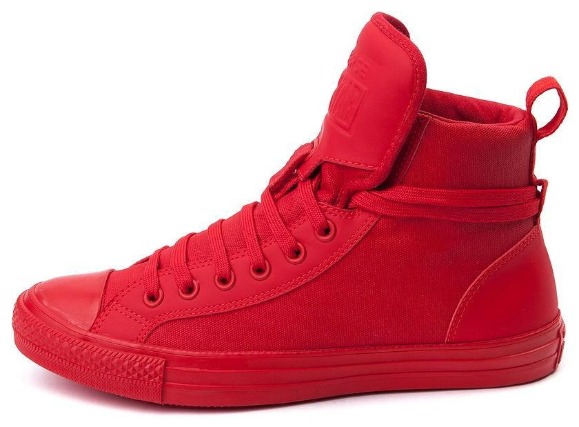 81f89af162f New CONVERSE Chuck Taylor All Star Hi Top Canvas Leather Sneaker red   Converse  AthleticSneakers