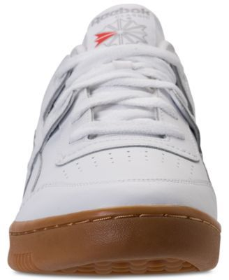 Reebok Men s Workout Plus Casual Sneakers from Finish Line -  WHITE CARBON CLASSIC RED  11.5 47957d64c