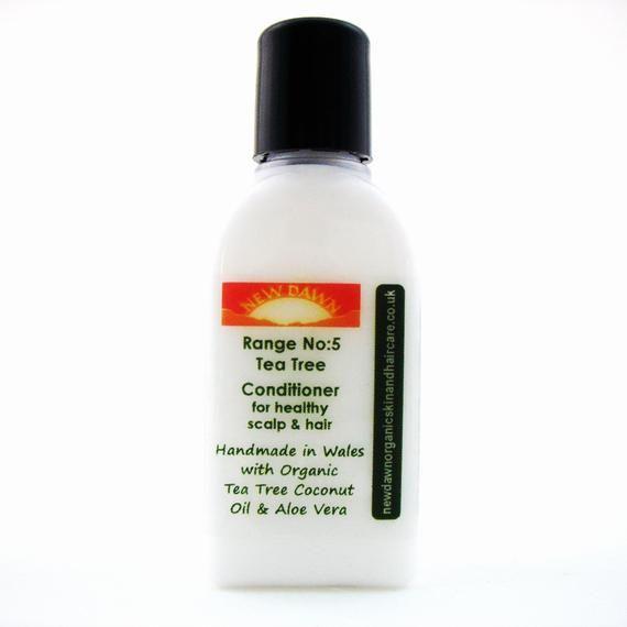 Tea Tree Organic Conditioner ~ Organic Hair Care ~ Vegan ~ Handmade Hair Conditioner - Shea Butter, Coconut Oil & Aloe Vera