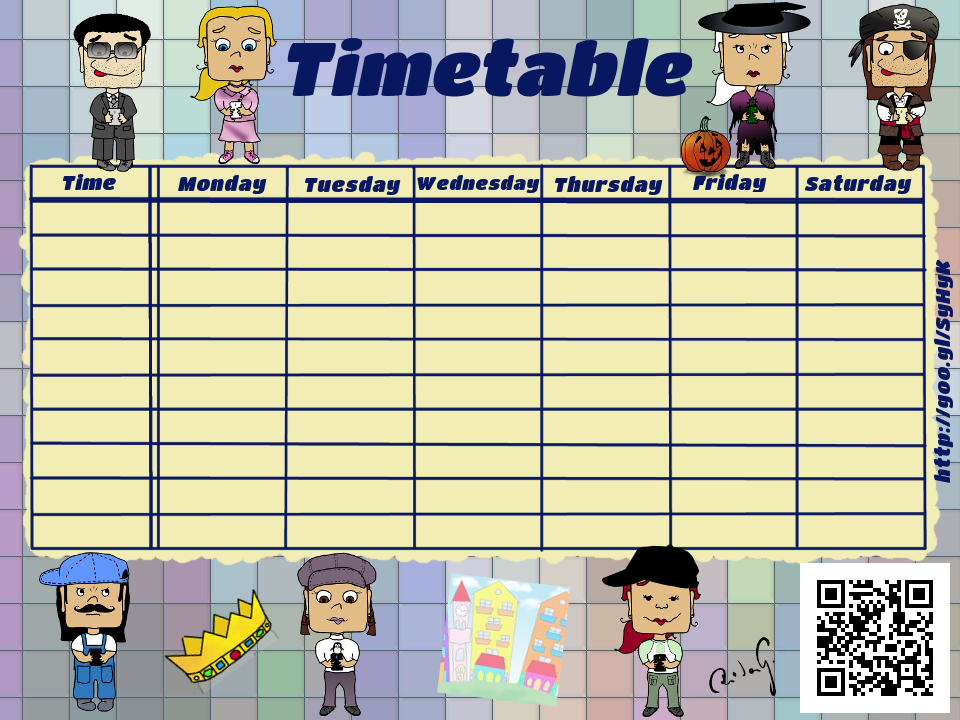 1000 ideas about School Timetable – School Time Table Designs