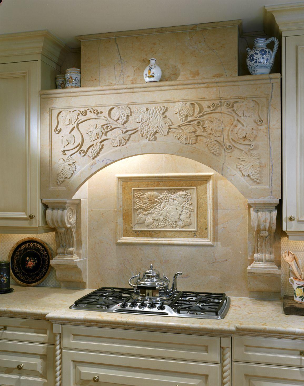 Best Kitchen Gallery: Kitchen Hoods Hearths In Natural Stone By Materials Marketing of Stone Kitchen Hoods on rachelxblog.com