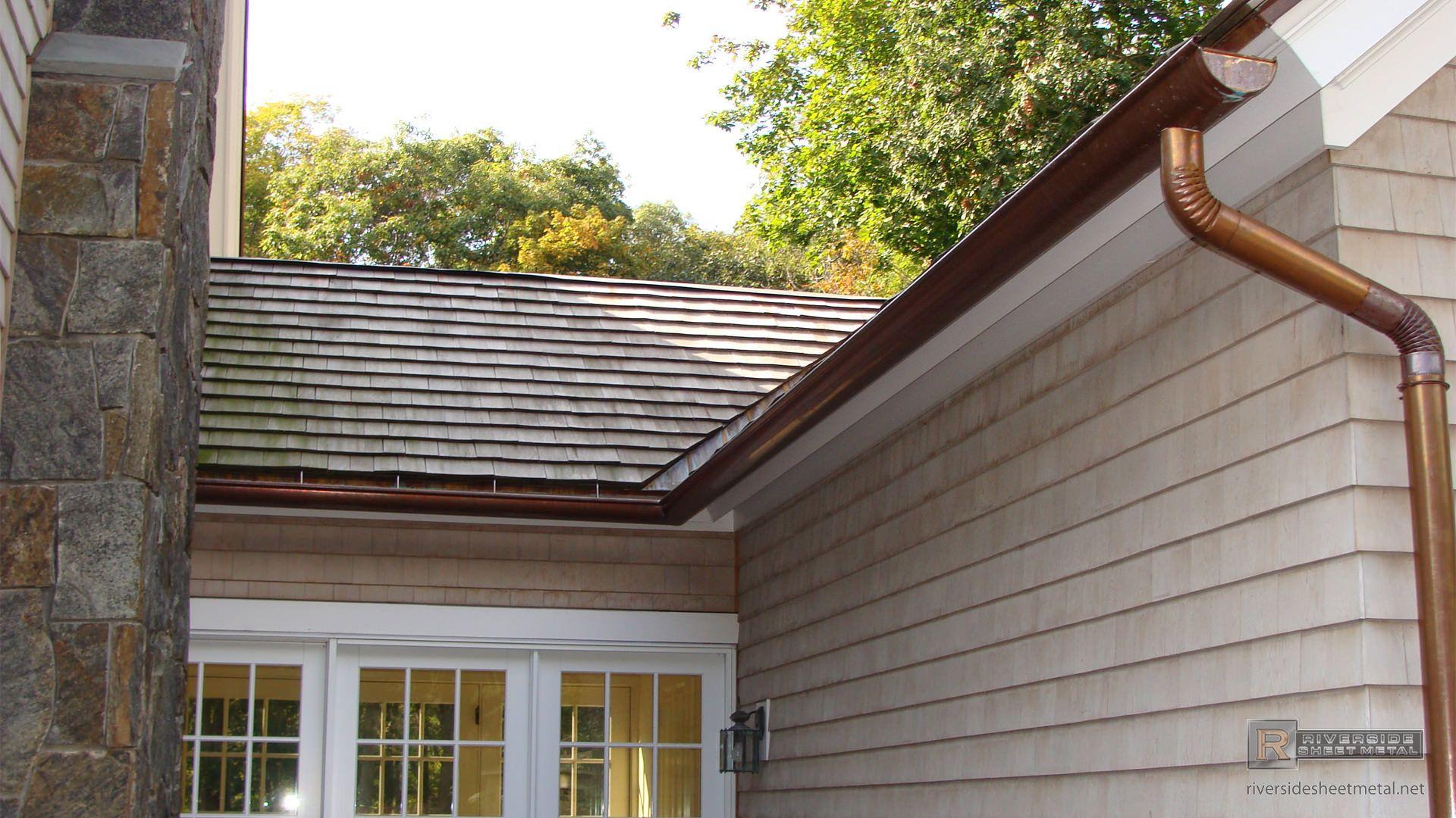 Single Bead 5 Copper Gutter Riverside Sheet Metal Medford Ma Gutters Copper Gutters Historic Homes