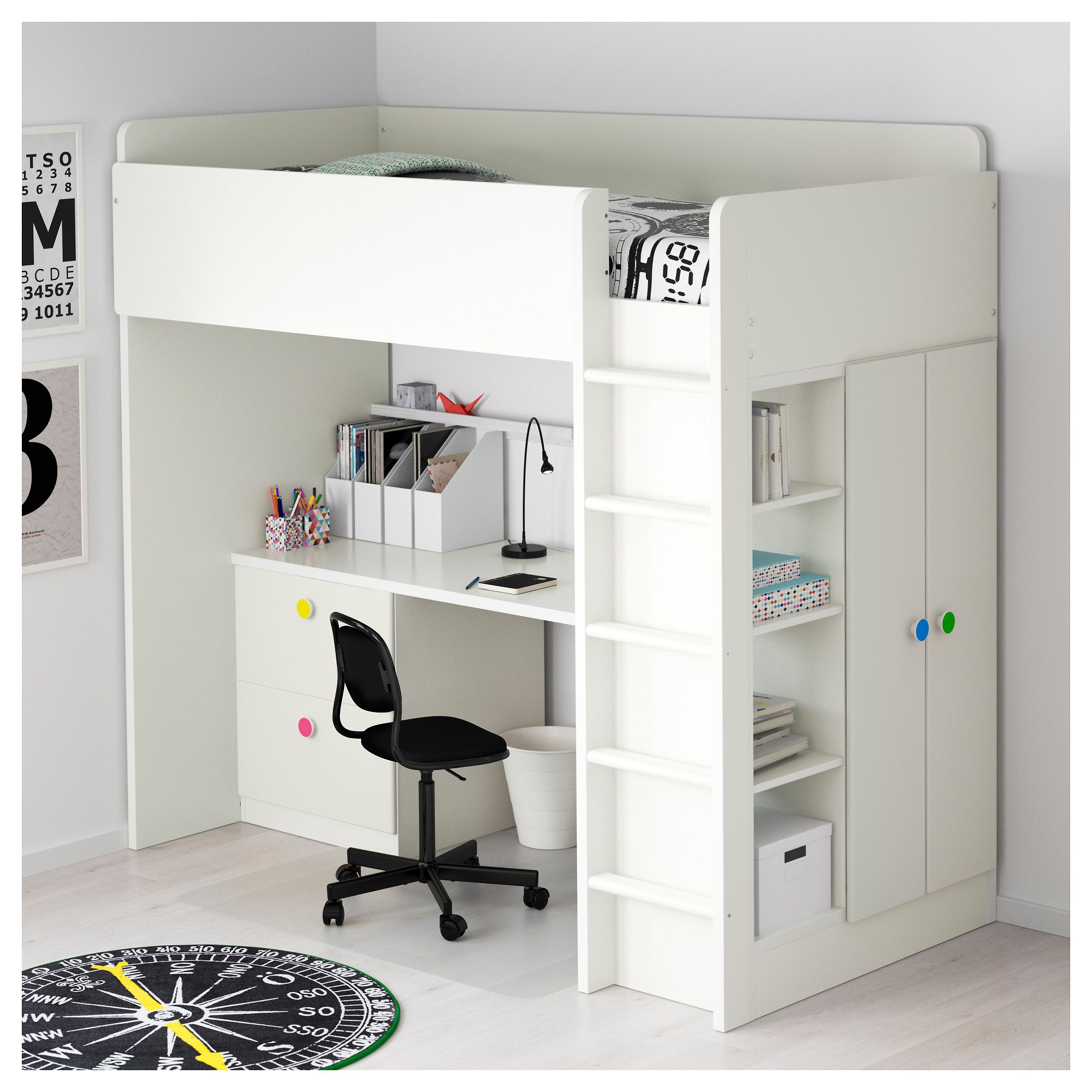 Us Furniture And Home Furnishings Bunk Bed With Desk Interior