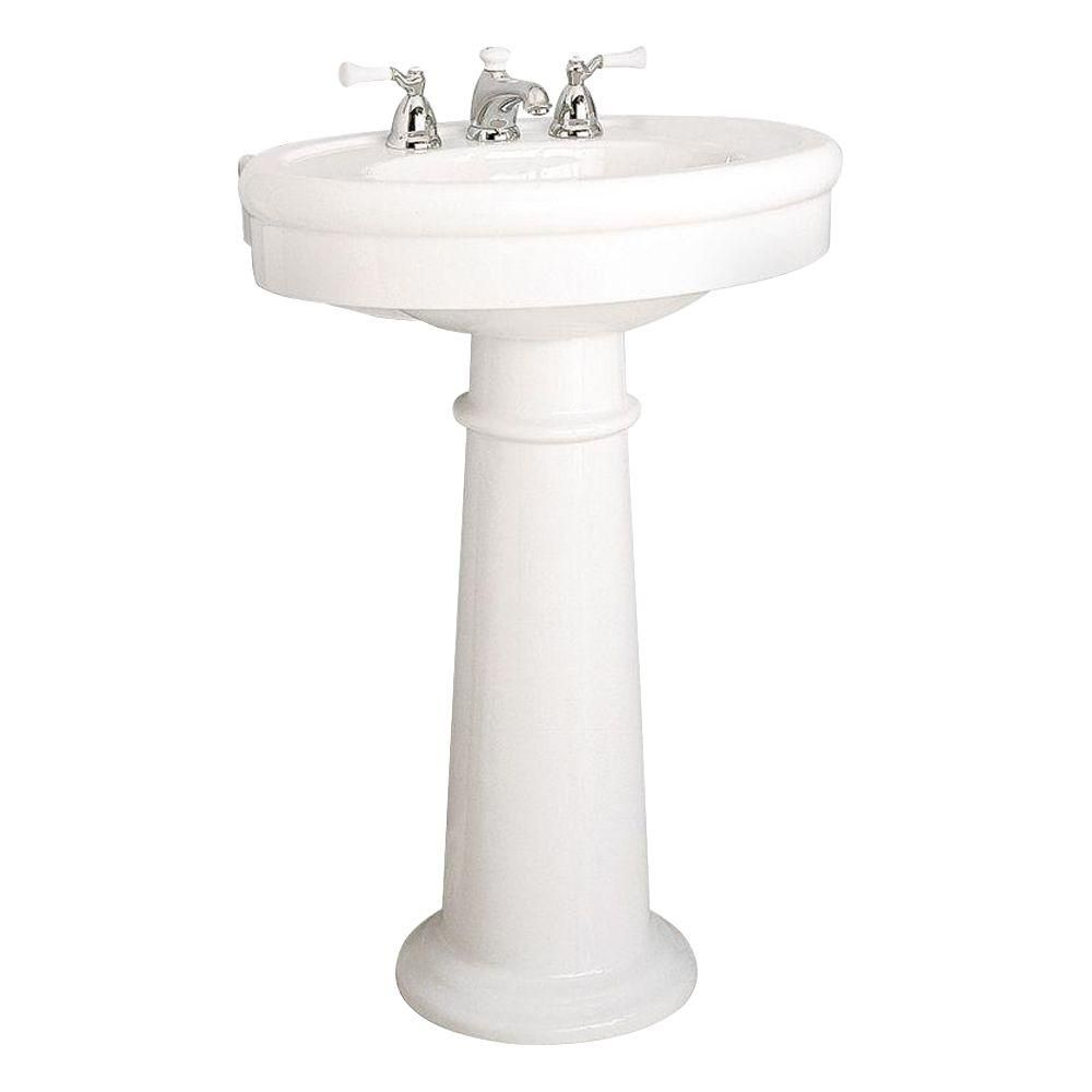 American Standard Collection Pedestal Combo Bathroom Sink In Linen 0283 800 222 With Images Sink American Standard Bathroom Sink