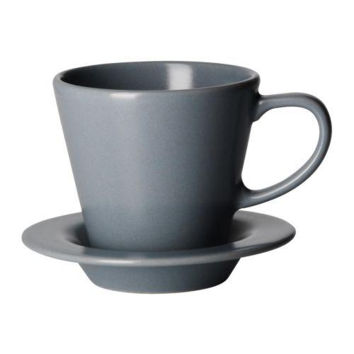 DINERA tazza di caffè e piattino IKEA