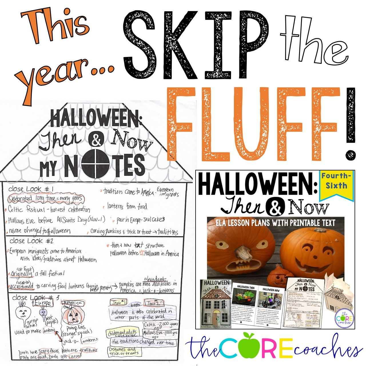 The History Of Halloween Ela Lesson Plans With Printable