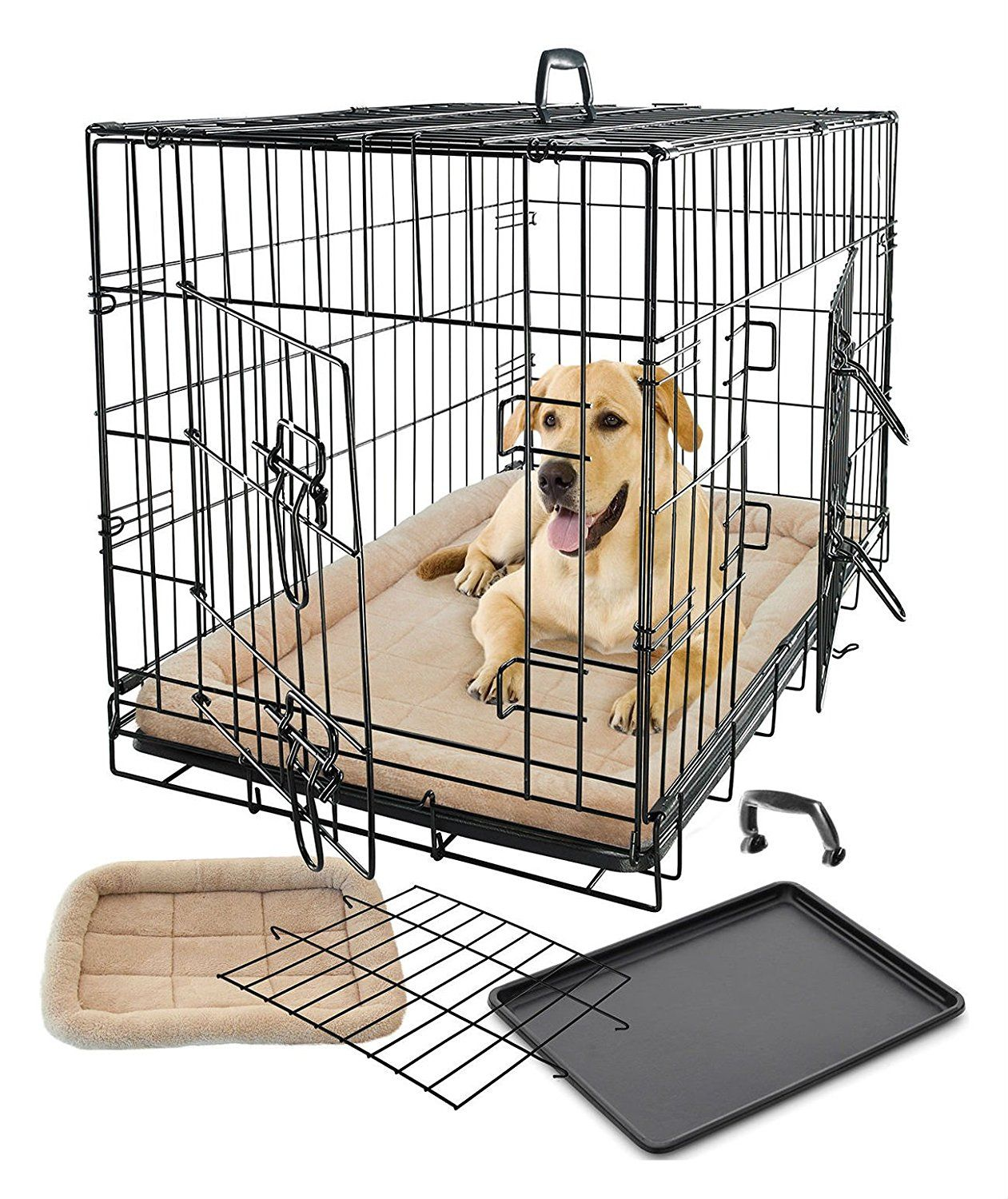 Pet Dog Cat Cage Crate Kennel and Bed Cushion Warm Soft Cozy House XX-Large