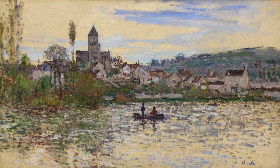 La Seine à Vétheuil (C Monet - W 532) | Vetheuil, Monet et Claude monet