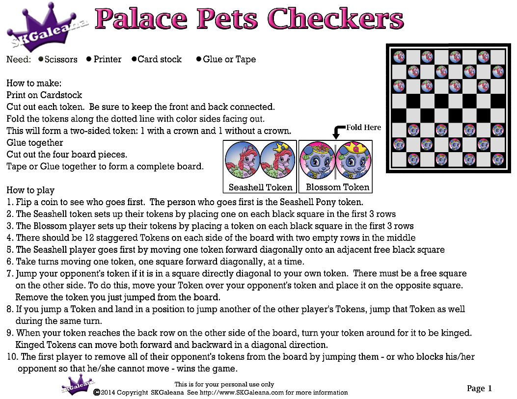1 of 5 checkers game http skgaleana com disneys princess