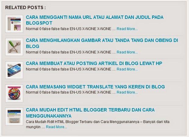 Cara Membuat Related Post Di Blog Blog Posting Tanda