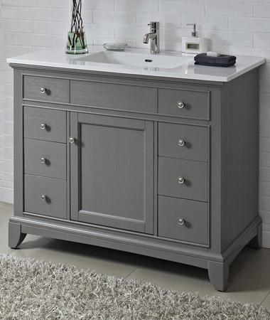 Fairmont Designs 1504 V42 Smithfield Medium Gray Bathroom Vanity