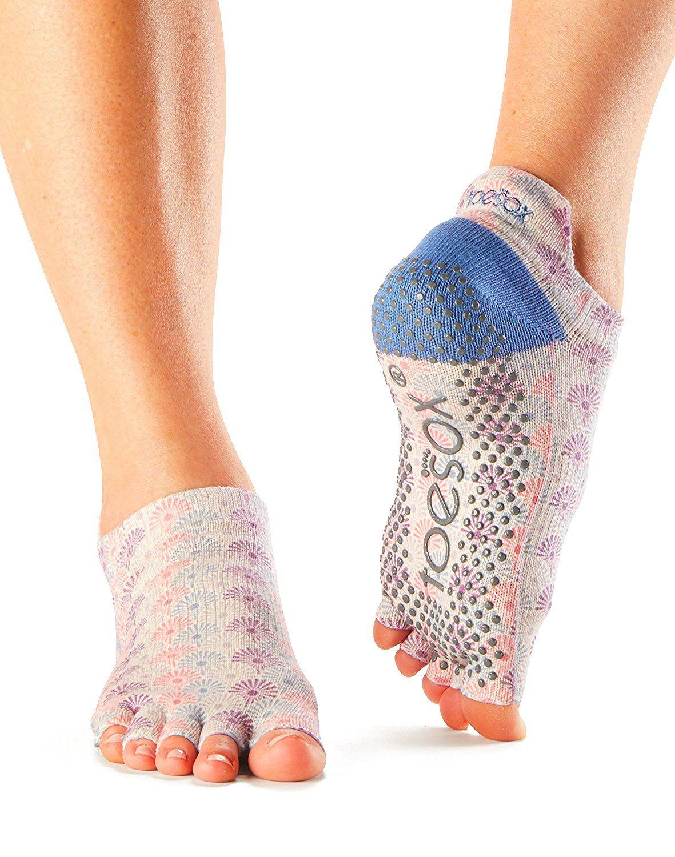 Toe Sox Damen Toesox Grip Pilates Barre Socks Non-Slip Bellarina Full Toe for Yoga /& Ballet