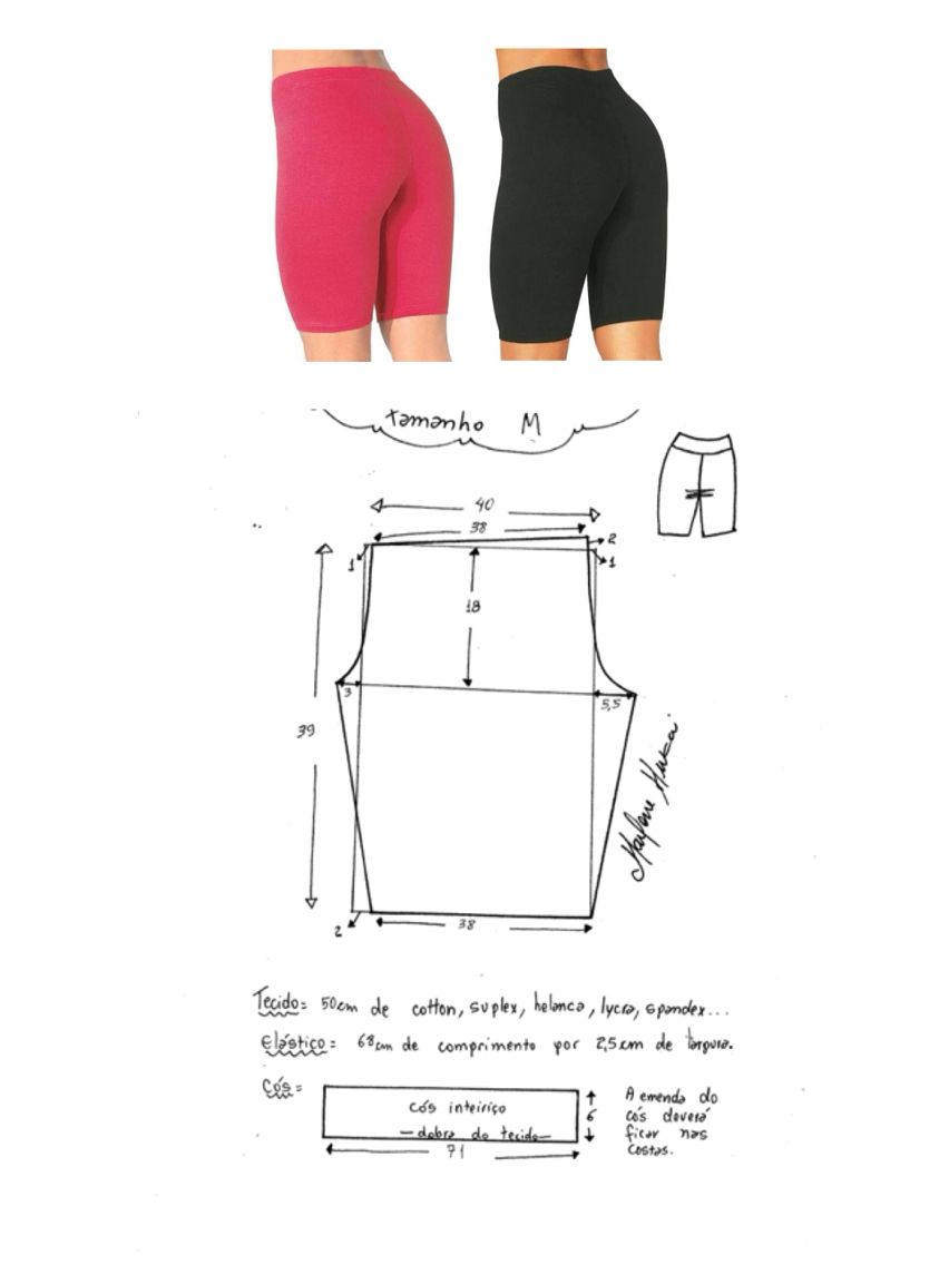 Short largo deportivo (molde) | Molderia y confección | Pinterest