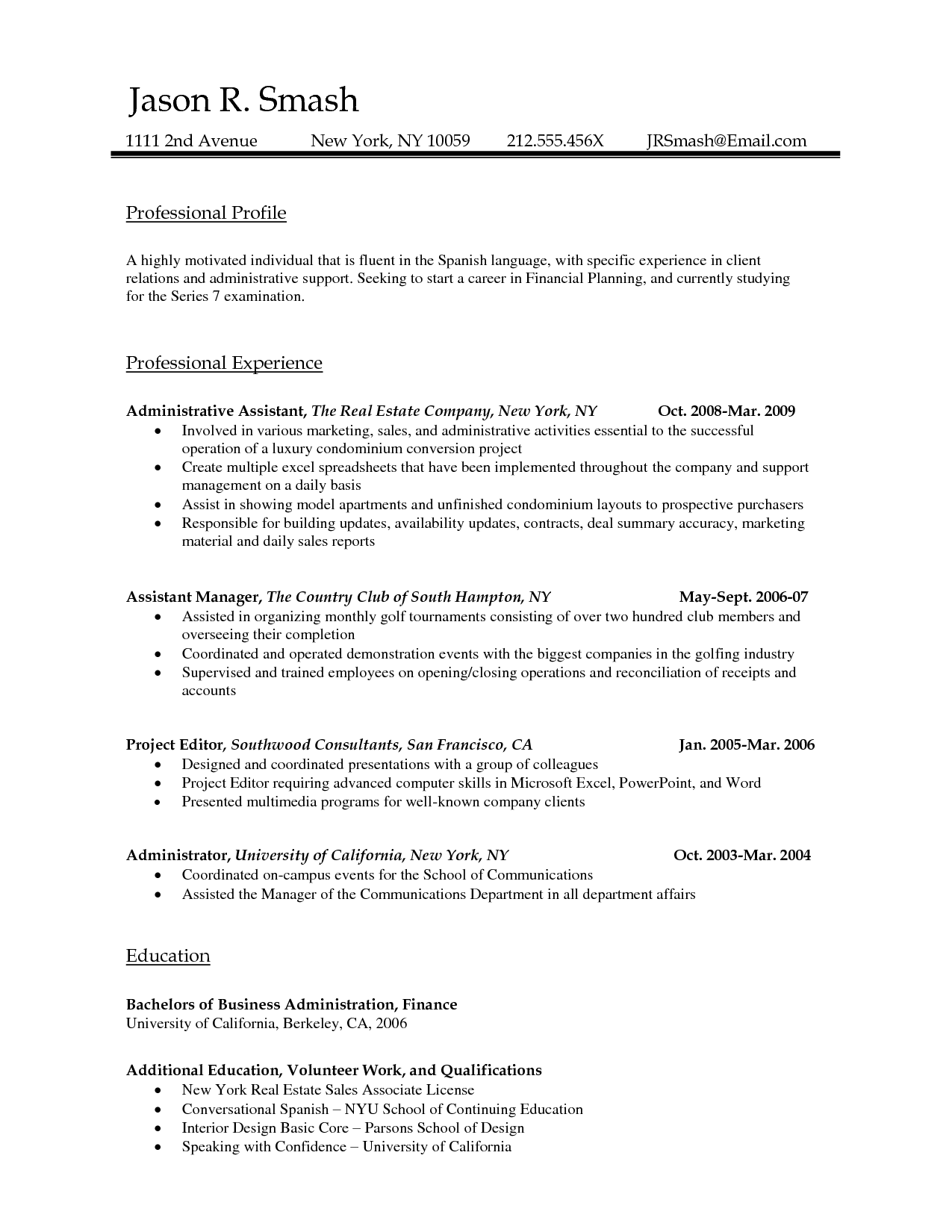 Resume Examples Template Word Document Microsoft Download