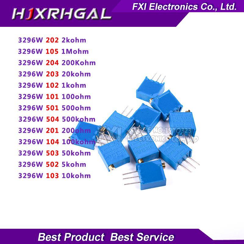 10PCS 3296W-204 3296 W 200K Ohm Trim Pot Trimmer Potentiometer