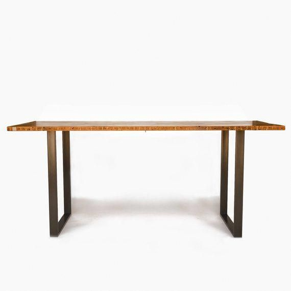 Counter Height Or Bar Dining Table Made With Reclaimed Wood And Steel U Shaped Legs In Your C Hightoptables