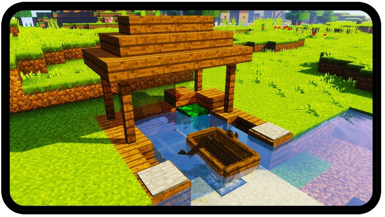Minecraft  How To Make A Dock  Design  In 2020
