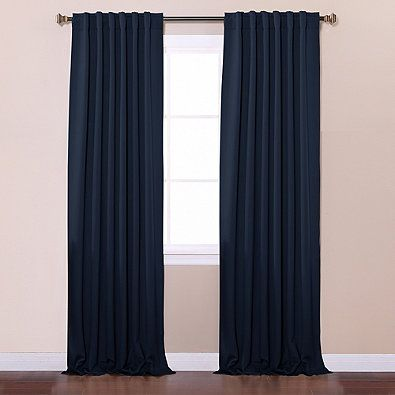 Decorinnovation Basic Solid Room Darkening Back Tab Window Curtain