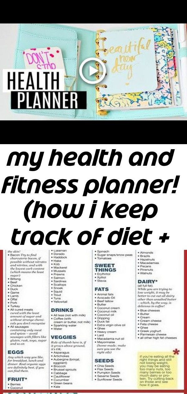 My health and fitness planner! (how i keep track of diet + exercise) -  My Health And Fitness Planne...