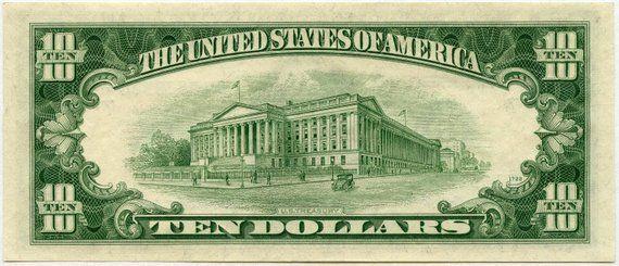 1950B Ten Dollar Federal Reserve Note G19528534*, F2012G