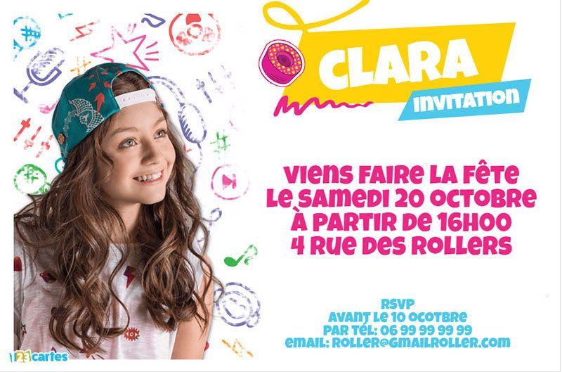 Invitation anniversaire soy luna gratuite personnaliser - Carte violetta a imprimer ...