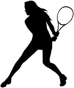 Tennis Tennis Art Girl Silhouette Tennis