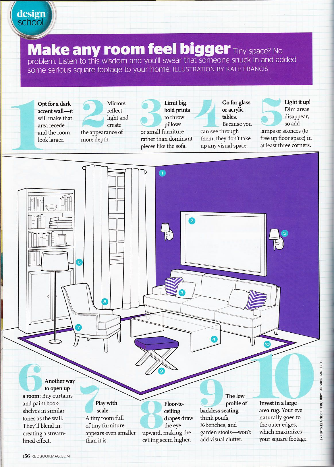 Make Any Room Feel Bigger Tiny Space No Problem Listen To This Wisdom And You Ll Swear T Interior Design Guide Living Room Furniture Layout Livingroom Layout