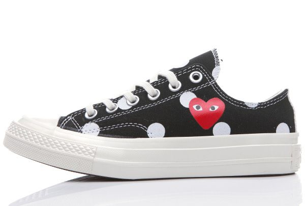 f0e8418cf29a Converse 1970s Comme Des Garcons Polka Dot Play Black Low Chuck Taylor All  Star Shoes  converse  shoes