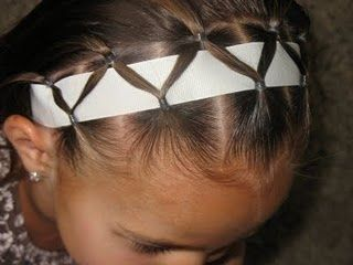 ribbon headband for kids hair. perfect for Ceci! My daughter has very thin hair and her hair ties and bands always falls out. Thanks for this idea! Brilliant!!