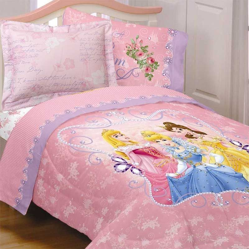 Disney Princess Comforter Set Cinderella Blanket Sham Twin Bed Princess Bedding Set Princess Bed Disney Princess Bedding