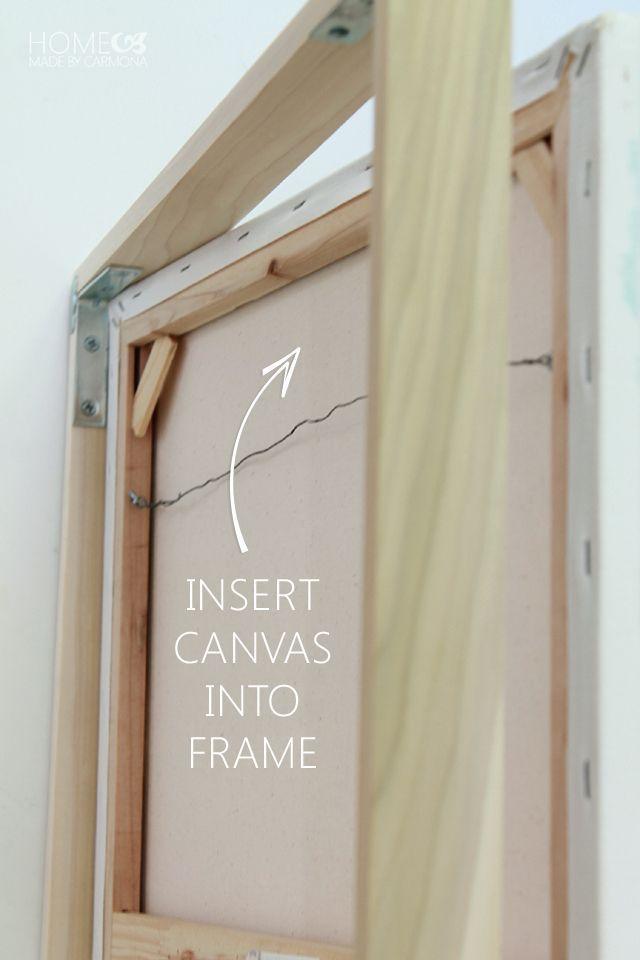 DIY Floating Frame Tutorial For $6! | Floating frame, Diy wood and Craft