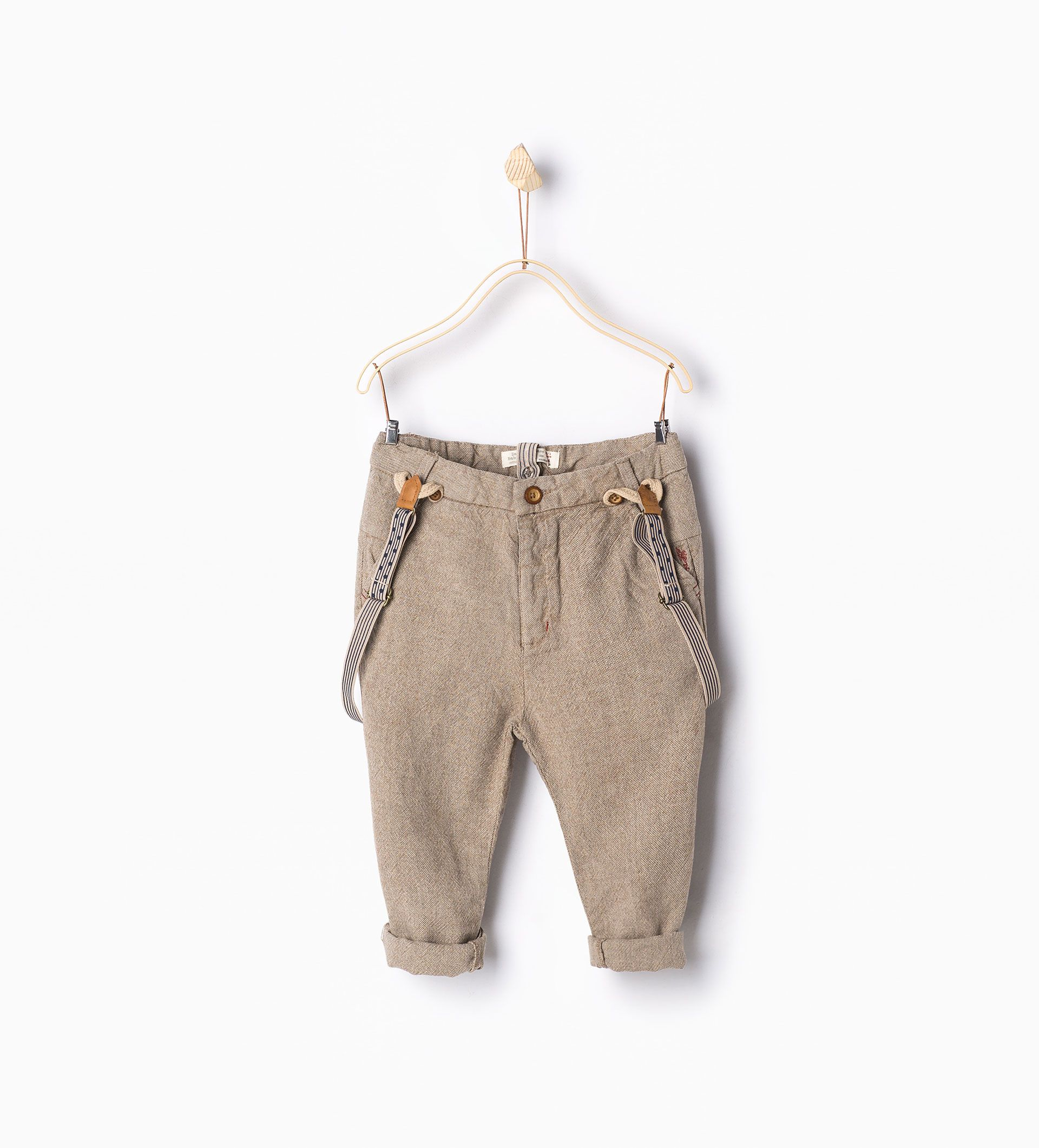 Trousers with braces - MUST HAVES - Baby boy | 3 months - 3 years - KIDS | ZARA United States