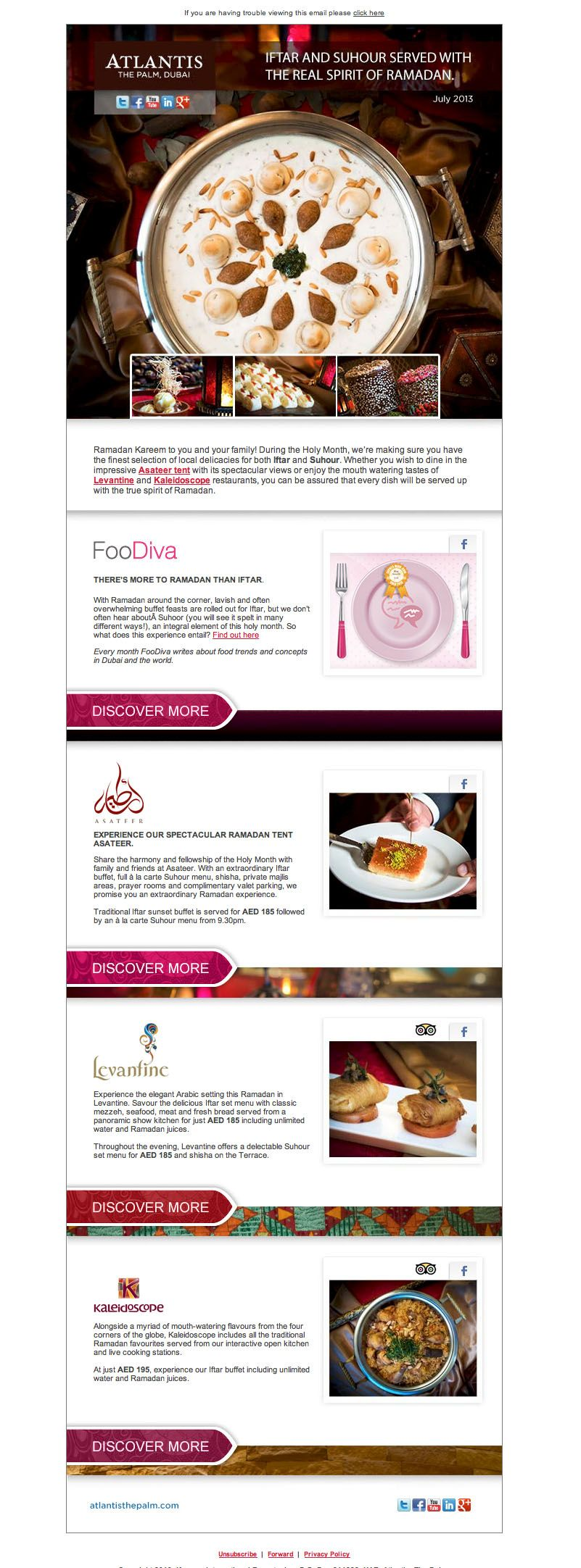 Images we shot for Atlantis Hotel, featured in their email campaign. #dubai #foodphotography #professionalphotographer
