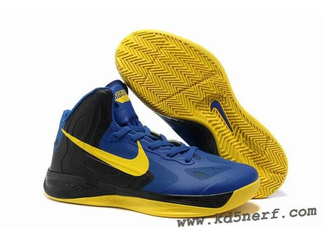 812c579c8615 Nike Zoom Hyperfuse 2012 Jeremy Lin Shoes Blue Black Yellow Disc ...