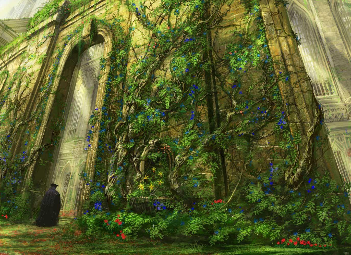 Abundant Growth. Art by Vincent Proce | Mtg art, Art, Fantasy ...