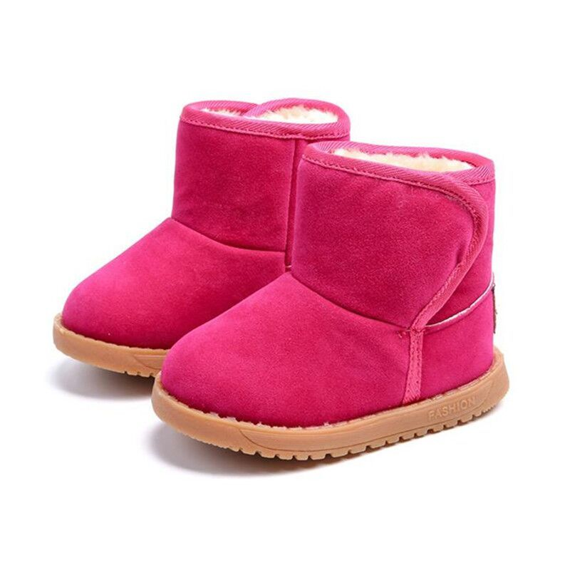 Comfy Kids Child Snow Boots Shoes for Girls Boys Boots Fashion Soft Bottom Shoe