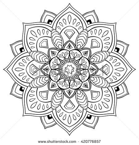 Stylized vector mandala. Ornament for coloring books. | Adult ...