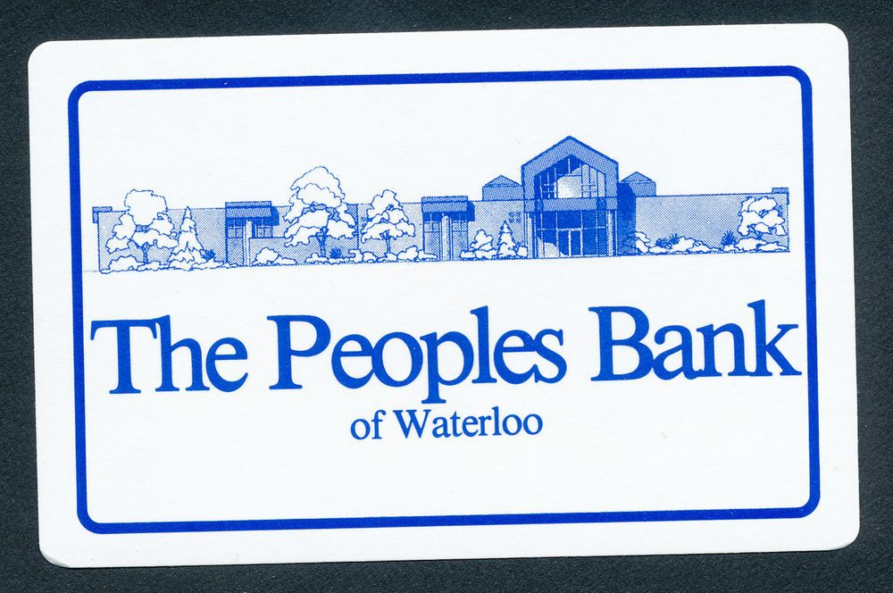 The Peoples Bank of Waterloo Iowa playing card single JOKER - 1 card