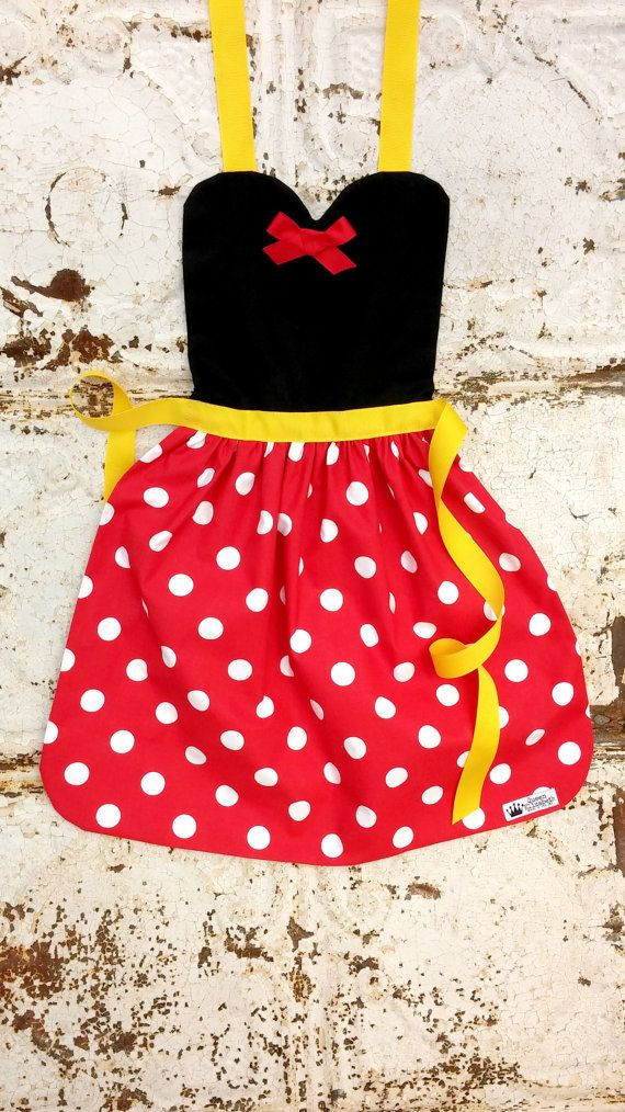 MINNIE MOUSE costume APRON. Disney por QueenElizabethAprons en Etsy ...
