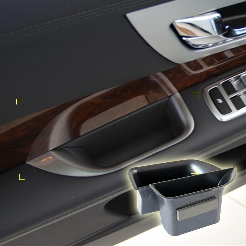 2 Pcs/lot Car Organizer for Jaguar XF 2009-2015 Door Handle Storage
