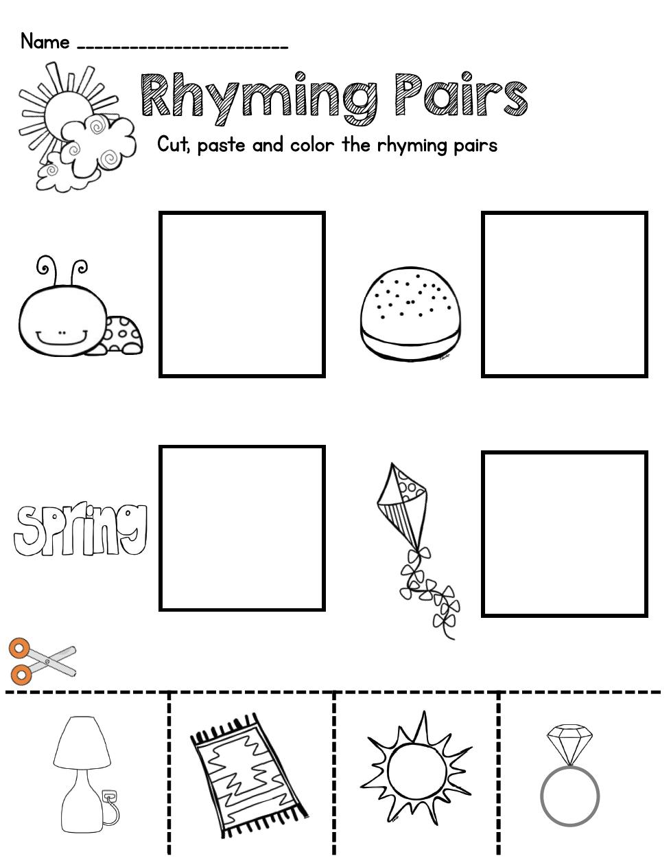 May In Kindergarten Freebies Keeping My Kiddo Busy Rhyming Kindergarten Phonics Kindergarten Kindergarten Freebies [ 1260 x 978 Pixel ]