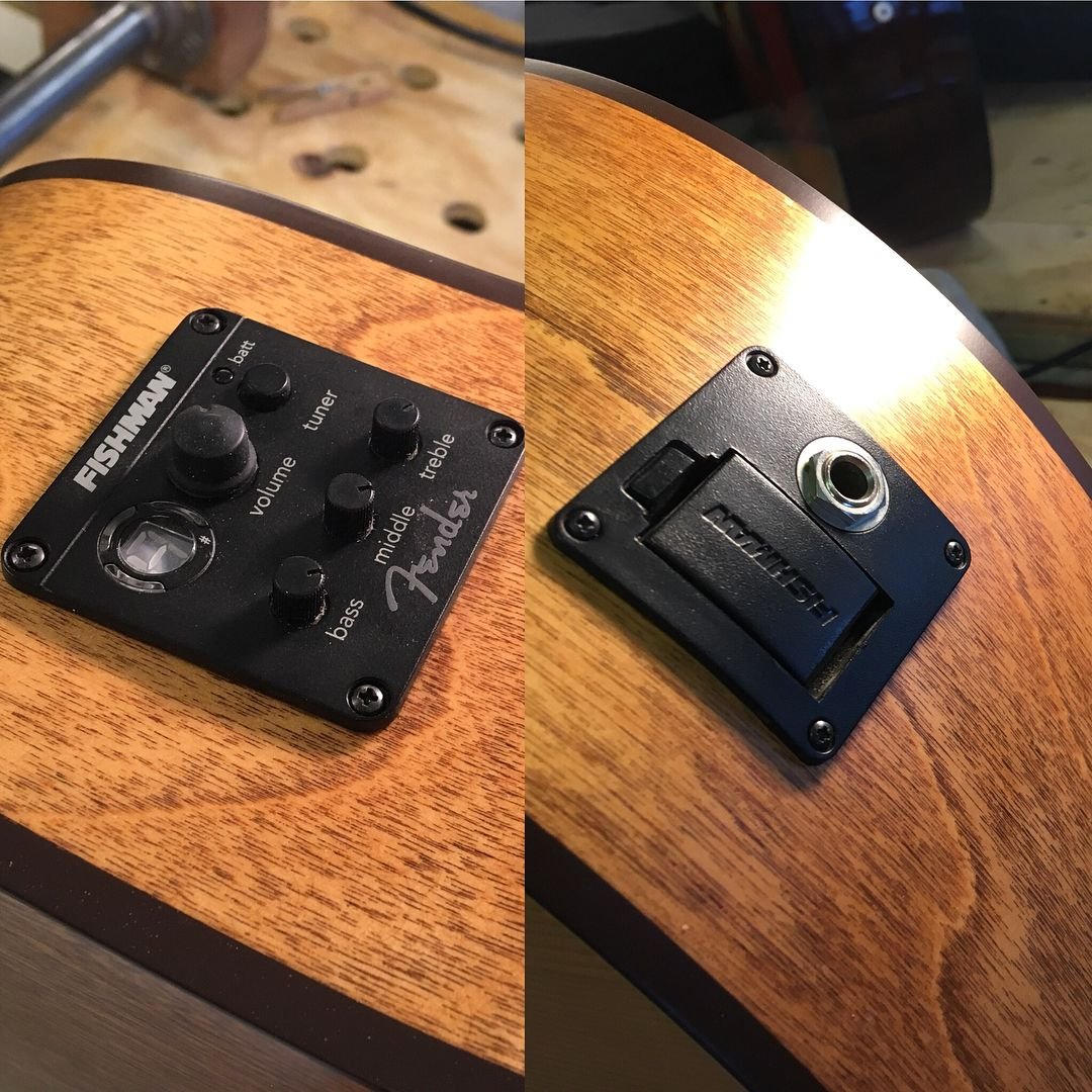 Fishman Pickup Install On A Lovely Seagull Acoustic Fishmanpickups Seagullguitars Acousticguitar Electroacoustic Luth Seagull Guitars Guitar Tech Fish Man