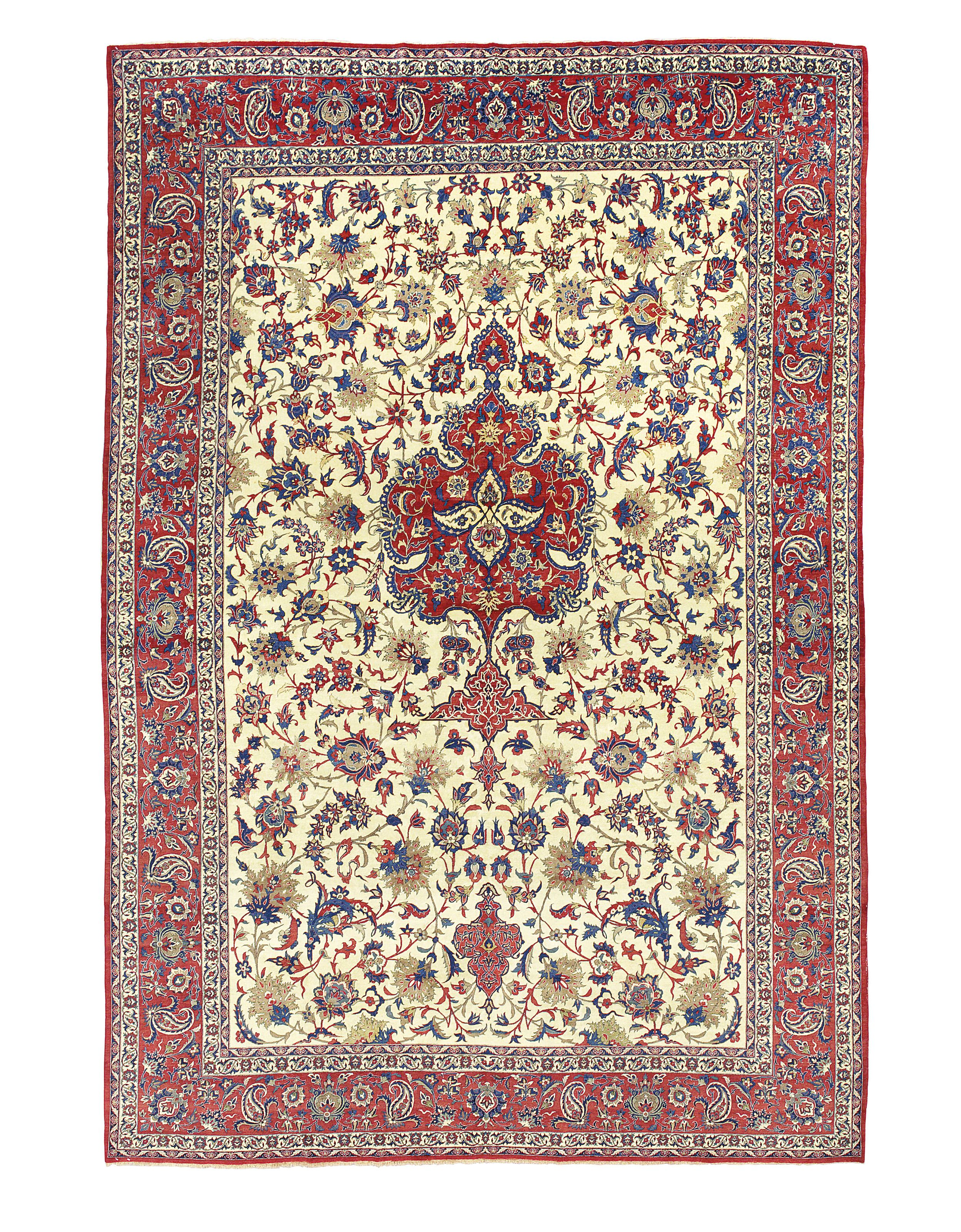 Isfahan Carpet Central Persia Circa 1930 12ft 4in X 8ft 2in 376cm X 248cm Christie S