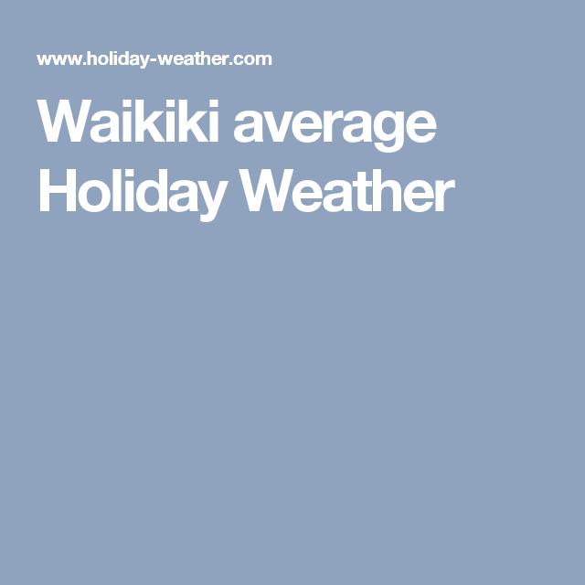 Waikiki average Holiday Weather