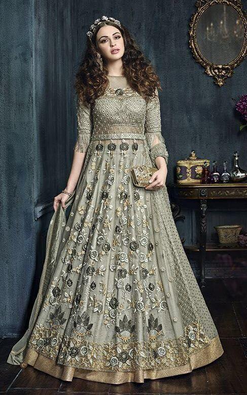 Party wear Suit designer Anarkali Pakistani shalwar Kameez Gown dress